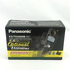 Panasonic KX-TGA600B 5.8 GHz Expandable Digital Cordless Handset w Charger Black