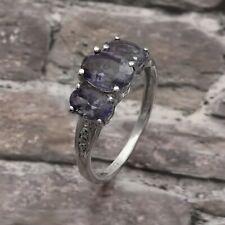 925 Sterling Silver 1.93 Ctw Tanzanite Gemstone Women Ring US-9