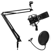 Set Microphone pour Live Micro USB Studio à Condensateur 320Hz-18 kHz - Noir