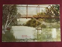 South Dakota Sioux Falls Soo River 1910 Antique Photo Postcard Vintage
