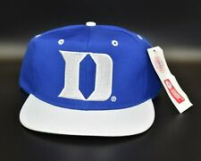 Duke Blue Devils Vintage 90's Old English Back Spell Out Snapback Cap Hat - NWT