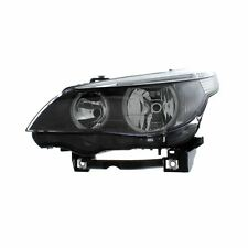 BMW 5 Series E60 4 & 5 Door 2003-2007 Black Headlight N/S Passenger Left