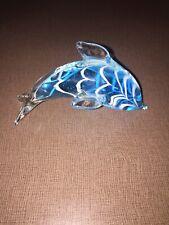 Art Glass Dolphin Paper Weight