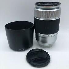 Fujifilm Fujinon XC 50-230mm f/4.5-6.7 OIS Lens Silver w/ Hood from Japan