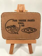 CCC For Truck Parts Call Us Leather Belt Buckle
