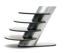 4x Design Stainless Steel Coasters with Stand 5 PIECES | Non Slip Base