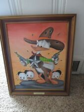 Vintage oilpainting-Carl Barks styl-Donald Duck 4color 199-Sheriff Bullet Valley