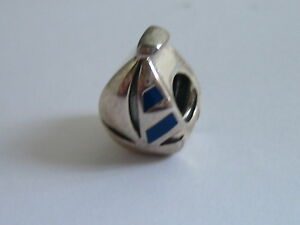 CHAMILIA SAILBOAT CHARM 2020-0804 STERLING SILVER 925 BLUE ENAMEL GENUINE