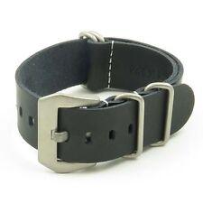 StrapsCo Leather Wrap Around Military Watch Band Strap w/ PRE-V Buckle