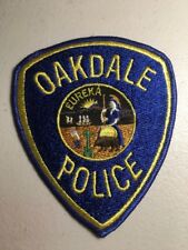 Oakdale California Police Department Patch Ca Cheesecloth Reverse
