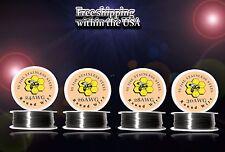 (4pcs) BUNDLE - 100ft Roll of Each Gauge 24,26,28,30 - SS 316L Resistance Wire