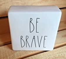 "~Rae Dunn~""Be Brave""on one side""Work Hard""on the other~Office/Desk Paperweight~"