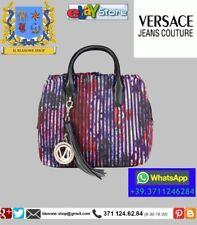 Bauletto donna borsa Versace Jeans tessuto plissè mano tracolla Glamour Fashion