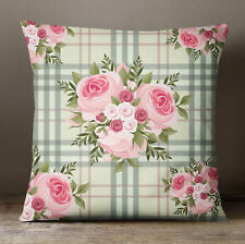 S4Sassy Square Cushion Cover Floral Print Decorative Beige Pillow Case
