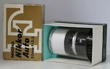 BOXED Nikon Micro-Nikkor Auto AI 55mm Camera Lens f/3.5 Japan F-Mount MINTY!