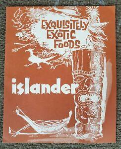 1960s Islander Restaurant Tiki Menu, Beverly Hills, Calif - EXCELLENT Condition