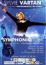 Sylvie Vartan et l'Ensemble Instrumental de Corse - Flyer Symphonic Tour