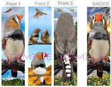 3 Set-ZEBRA FINCH BOOKMARK Bird Finches FUN ART Book Mark Card Figurine Ornament