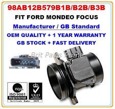 FORD FOCUS 1.6 1.8 2.016V 1.8TDCi ST170 Mass Air Flow meter Sensor 98AB12B579B1B