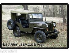 US Army Jeep CJ3B Page Tool Box /  Refrigerator Magnet
