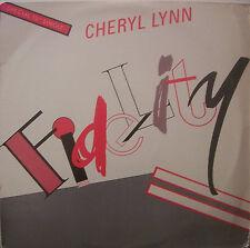"CHERYL LYNN ~ Fidelity ~ 12"" Single PS USA PRESSING"