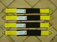 """4, 2x21"""" AXLE STRAPS TIE DOWN RACE CAR HAULER 4X4 OFF ROAD TOW TRUCK  ROLLBACK"""