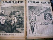 actualités régionales LE PROGRES ILLUSTRE progrès Lyon lot 10 rev 1894 211 à 220
