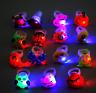 10pcs LED Light Up Flashing Finger Rings Party Favors Glow Xmas Gift Kids Toys