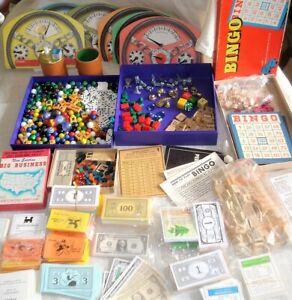 Big Lot Game Pieces MONOPOLY Tokens Cards Money SCRABBLE Tiles BINGO Cards MORE