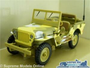 JEEP WILLYS CAR MODEL 1:43 SIZE MILITARY ARMY CARARAMA CAMOUFLAGE OPEN TOP T34
