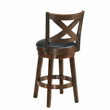 "Home Kitchen Dining Seat 24"" Swivel Bar Stool X-Back Upholstered Comfort"