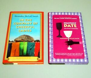 2 books SIGNED by ALEXANDER McCALL SMITH HEAVENLY DATE CHEERFUL LADIES Detective
