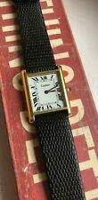 Vintage Cartier Tank Roman Numeral Dial Manual Wind Watch