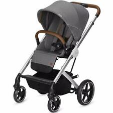 Cybex Balios S Denim Collection Stroller - Manhattan Grey/Silver Frame Free Ship
