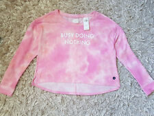New Women's HOLLISTER Gilly Hicks Graphic Crewneck Sweatshirt Size M pink tie dy
