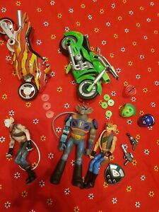Biker mice from mars figures and bikes. Bundle. 2006.