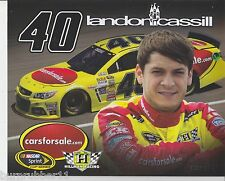 "2014 LANDON CASSILL ""CARS FOR SALE HILLMAN"" #40 2ND NASCAR SPRINT CUP POSTCARD"