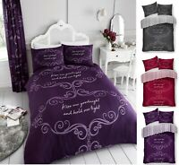 Luxuries GOODNIGHT Printed Reversable Duvet Quilt Cover+Pillow Case Bedding Set