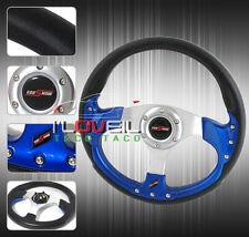 320MM UNIVERSAL HONDA CIVIC BLACK/BLUE RACING UPGRADE STEERING WHEEL+HORN BUTTON