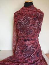 15,98€/m-Wunderschöner Stoff elastische Tüll  in weinrot , rot Töne 1,40m breit
