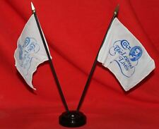 Colt Firearms Factory Desk Display Flags & Stand 1990