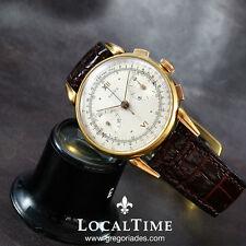 40s REVUE SUISSE [ REVUE THOMMEN ] robe vintage chronographe montre ANGELUS cal. 215