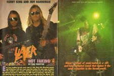 1991 Slayer, Kerry King & Jeff Hanneman 5-Page Vintage Article & Poster