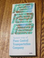 1970 Railroad System Map of Penn Central Transportation Company NOS
