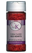 Red Hearts Edible Confetti Sprinkles 2.6 oz from CK  #11101