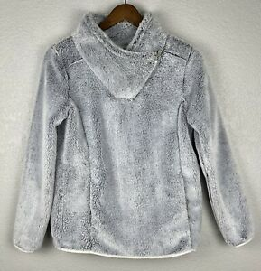 St. John's Bay Blue Faux Fur Pullover Jacket w/ Pockets Ladies Size Small