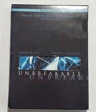 Unbreakable Dvd Larry Fulton(Dir) 2000 Bruce Willis Samuel Jackson