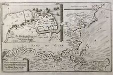 1672 Antique map: Thames Estuary. Isle of Sheppey. London after Matthäus Merian