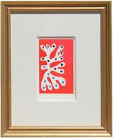 Fine Henri Matisse 'Algue Blanche' Pochoir Hand Painted COA Not Signed 1953