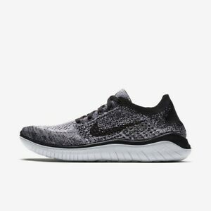 Nike Free RN Flyknit 2018 Black White 942839-101 Women's Running Shoes NEW!
